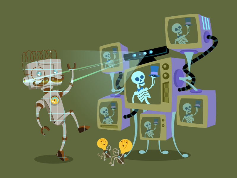 robot_and_sons_Kinect